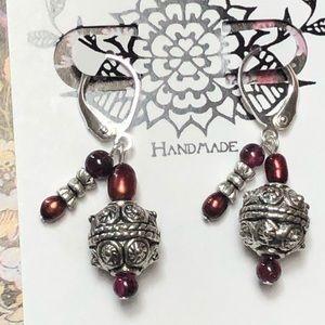Casey Keith Design Jewelry - Power Packed Garnet Earrings